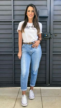 Basic Outfits, Cute Casual Outfits, Casual Chic, College Outfits, Fashion 2020, Look Cool, Casual Looks, Fashion Outfits, Clothes For Women