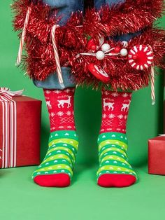 Tacky Holiday Sweater | Awesome Holiday Novelty Socks for Men – The Sock Drawer