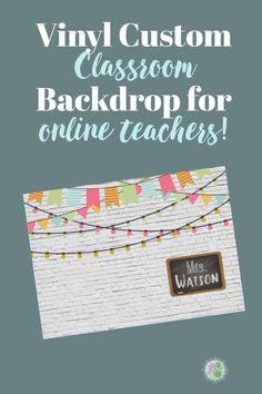 A colorful farmhouse classroom look! This beautiful background is customizable and is printed on high quality vinyl with grommets for easy hanging. Classroom Signs, Classroom Posters, Classroom Decor, Classroom Background, Vinyl Banners, Low Key, Esl, Backdrops, Minimalist