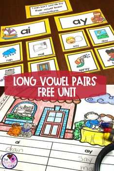 How about a free phonics unit with long vowel teams? This fun unit includes a sorting activity with picture cards and recording sheet using AI AY words.  It also include 5 printables with AI AY OA OW OE IGH. This long vowel unit is perfect for guided reading, literacy centers, rotations, or centers. Grab this free unit today! {first grade, second grade,worksheets, 2nd grade} #firstgradephonics #1stgradephonics #phonics #secondgradephonics #2ndgradephonics