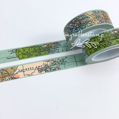 World Map Washi Tape. This tape is perfect to use on any of your paper projects! This tape is perfect for all paper projects! Use as a border to make Washi Tape Crafts, Paper Crafts, Washi Tapes, Scrapbooking Layouts, Scrapbook Pages, Scrapbook Borders, Travel Scrapbook, Cinta Washi, Map Globe