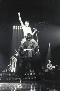 Freddy Mercury and Darth Vader