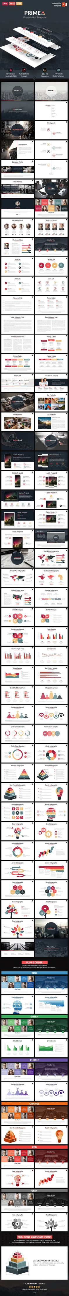 Primea - PowerPoint Presentation Template #design Download: http://graphicriver.net/item/primea-powerpoint-presentation-template/11828976?ref=ksioks: