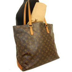 LOUIS VUITTON Monogram CABAS MEZZO LV Tote Shoulder Bag Handbag M51151 W/Dustbag #LouisVuitton #TotesShoppers