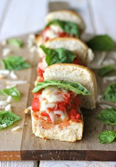 Turkey Meatball Sliders - made w/ turkey so fewer calories and less fat