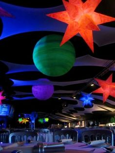IDEA: The planets from last year have gone missed, but if someone could make a few giant planets (or the moon) or these stars; glow paint would be awesome!
