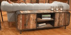Great look....Reclaimed boat wood console