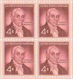 Dr. Ephraim McDowell Set of 4 x 4 Cent US Postage Stamps NEW . $4.70. Dr…