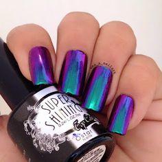 Uma's Nail Art: Ostar Chameleon Mirror Powders - Jade in Violet, M...