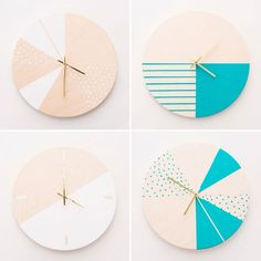 How to Make Gorgeous Wooden DIY Wall Clocks | Brit + Co