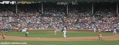Catch a game and watch the Cubs play from the Wrigley Field bleachers. http://www.stadium-advisor.com/chicago-cub-tickets.html