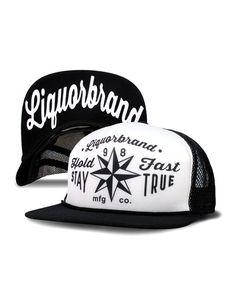 Liquor Brand Herren STAY TRUE Kappe/Cap.Biker,Oldschool,Tattoo,Custom Style