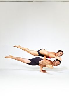 #Eka Pada Koundinyasana II with Briohny Smyth and Dice Iida Klein. so cool!! Loved and Pinned by www.downdogboutique.com to our Yoga community boards