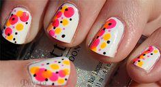 nail art: neon stripes