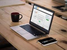 Bokbiz website op laptop scherm