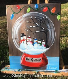 holiday art Best Christmas Art Painting Canvases H - holiday Easy Canvas Painting, Winter Painting, Diy Painting, Beginner Painting, Painting Snow, Painted Canvas, Canvas Painting Designs, Canvas Painting Tutorials, Acrylic Canvas