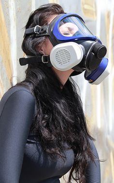 Gas Mask Girl, Respirator Mask, Full Face Mask, Masquerade, Beachwear, Swimwear, Outfit Of The Day, Street Style, Lady