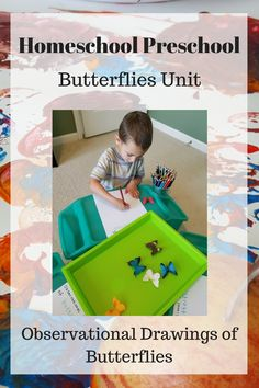 Tot Preschool Week 34: Butterflies. Hands on learning activities, projects, and crafts for preschoolers with a butterfly theme. Homeschool preschool curriculum.