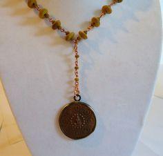 Olive Wood Buddha Pendant Necklace by SassafrasBeadWorks on Etsy