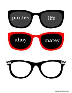 Glasses3.jpg www.amandakeyt.com Pirate photo booth props