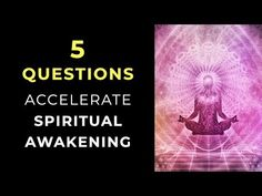 5 Questions to Speed Up Your Spiritual Awakening Free Training, Guided Meditation, Spiritual Awakening, Free Design, Spirituality, Mindfulness, Success, Youtube, Spiritual
