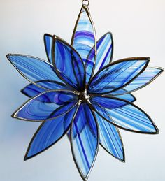3D Stained Glass Flower - Blue Baroque. Starting at $25 on Tophatter.com!    In Standby for Artisan Goods auction starting at 10am PST 3/15!