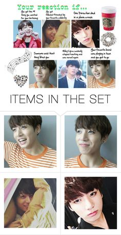 """My Reaction If... (Using Jungkook Photos)"" by k-pop-things-and-such ❤ liked on Polyvore featuring art"
