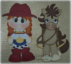Cowgirl and Horse Premade Scrapbooking by MyCraftopia on Etsy, $12.95