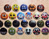 FNAF Five Nights at Freddy's 1-4 Button Set