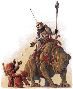 'Trooper and Jawas' by Kellie Strom (via sadiethepilot.com).