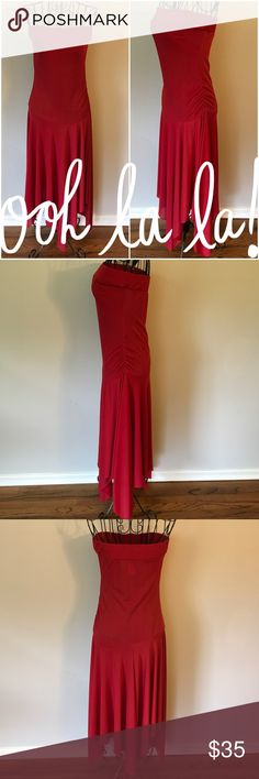🆕Listing! Luly K NYC💃🏽 Red Strapless dress Beautiful red strapless celebration dress with asymmetrical hem by Luly K. Get ready to turn heads at your next special event with this twirl worthy red beauty. Ruched side. Polyester/Nylon/Spandex blend. Worn once. Excellent condition. Make me an offer!!! Luly K NYC Dresses Asymmetrical