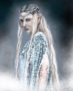 "Galadriel of ""the Lord of the Rings""  Digital draw/painting by Assie's Art"