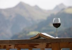 mountain view, a book, a glass of wine..... oh yes I could relax