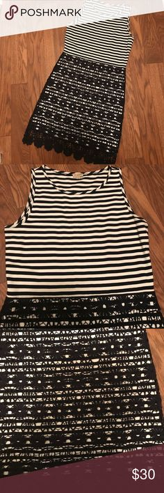 Cremieux Striped Dress Cremieux Striped Dress. Size Small. Like new condition.  Worn once for an event. Color is navy and white Cremieux Dresses