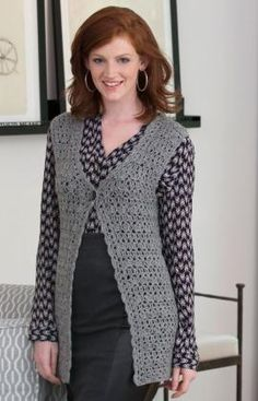 Office or Evening Vest - DK weight yarn (written in UK crochet terminology)