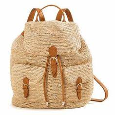 BAKARI /raffia crochet backpack