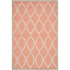 Safavieh Handmade Moroccan Cambridge Coral/ Ivory Wool Rug (4' x 6')