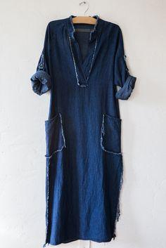 Raquel allegra dark wash tunic dress