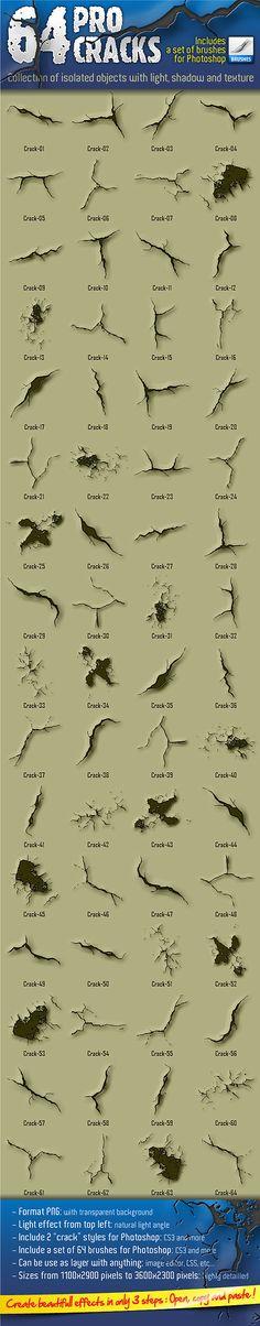 64 Pro Cracks (Bitmap version) - Miscellaneous Shapes