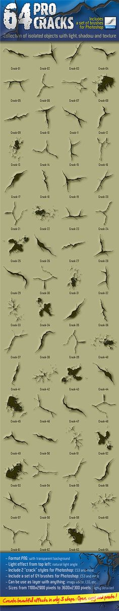 64 Pro Cracks (Bitmap version) - Miscellaneous Shapes