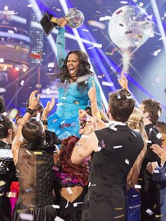 Amber Riley wins season 18 of DWTS.