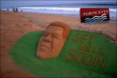 Get well Soon :: Nelson Mandela sand sculpture PURIWAVES