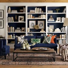 "He Said ""If I Wanted Farmhouse Style, I'd Go Live On a @#$%^&* Farm!"" - laurel home - fabulous bookcase styling"