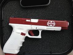 A cerakote job sporting the MSU spirit for a customer--job done by Tennessee Tactical Technology Firearms
