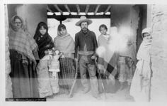 Mexican family at home, California, ca.1880 :: California Historical Society Collection, 1860-1960