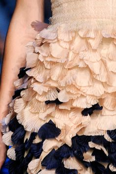 Delicate Details... soft petal textures; two tone dress - close up fashion // Jason Wu SS11