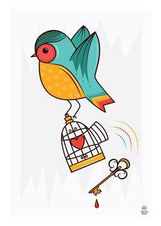 Poster Schizzibooks + TokStok by Camila Rosa, via Behance