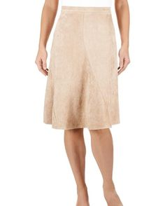 Faux Suede Paneled Skirt