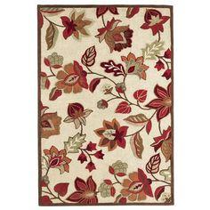 Jute & Wool Floral Rug