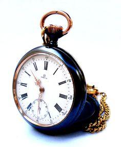 Antiguo Reloj Bolsillo Suizo OMEGA Open Face Art por shopvintage1
